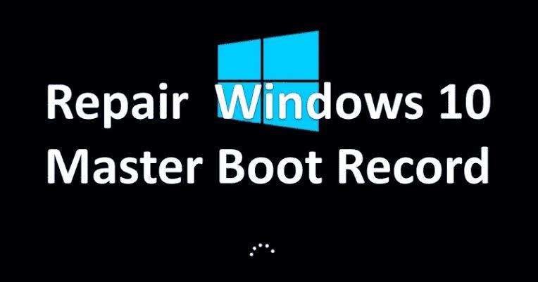 restore mbr on windows 1