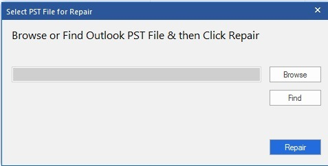 select pst files