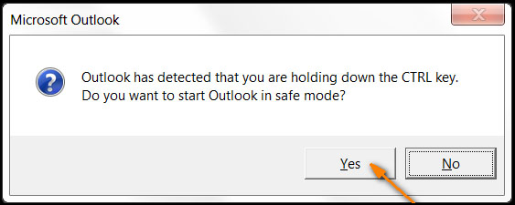 start outlook safe mode