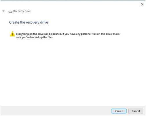 use windows 10 recovery drive 5