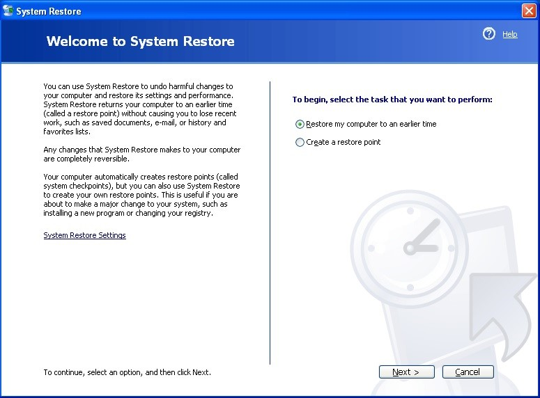 using system restore 3