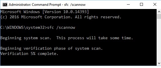 write sfc scannow in command prompt