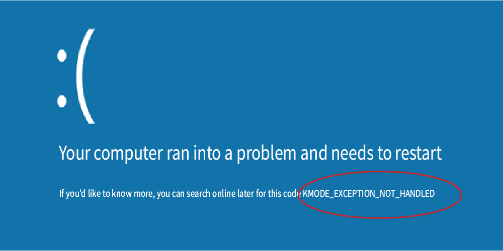 kmode exception not handled bluescreen