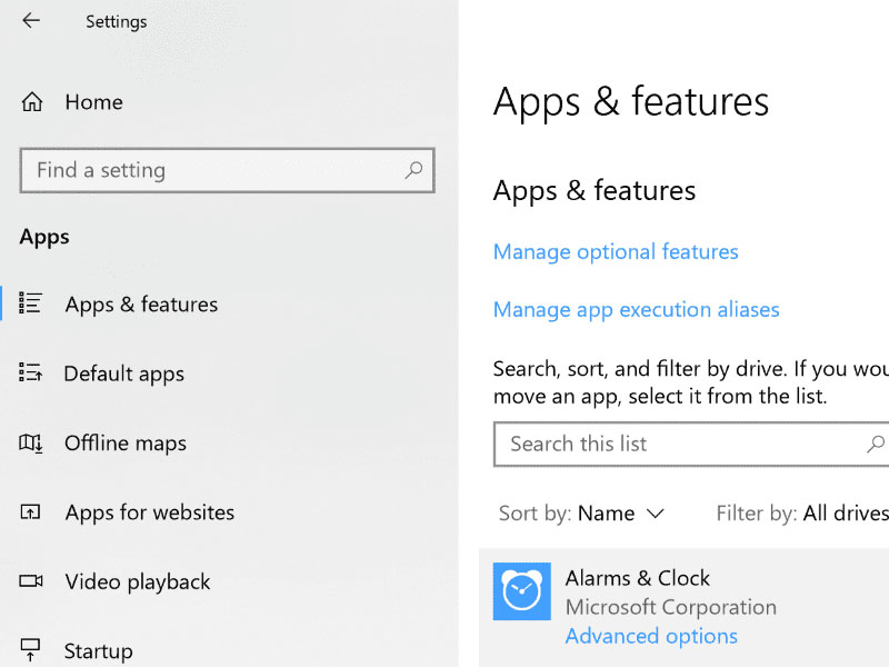 apps features