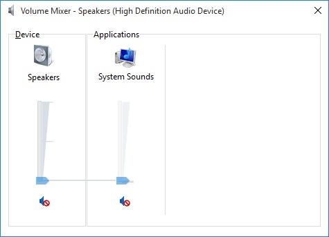Audio Services Volume Set