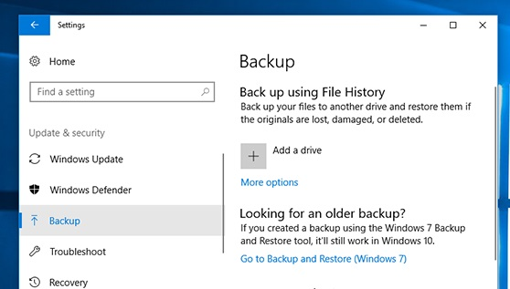 Windows Backup File History