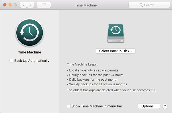 Mac Backup Time Machine