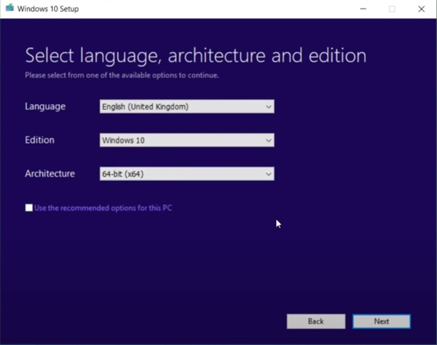 choose language edition and architecture.