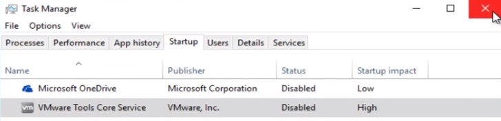 close task manager.