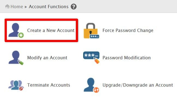 creating-a-new-cpanel-account