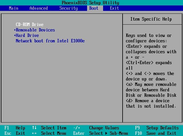 Enter BIOS Settings