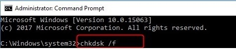 Fix stop 0x000000f4 error with chkdsk /f command in CMD.