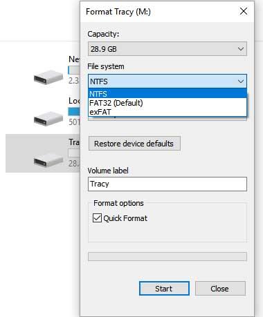 format sd card windows