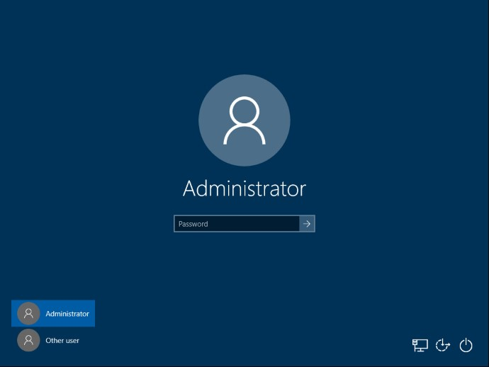 log in as an administrator.