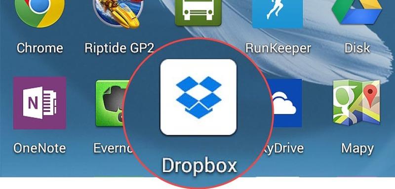 open dropbox application