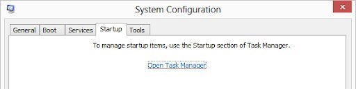 open task manager.