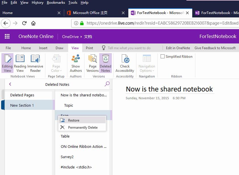 recover deleted onenote file ipad 1