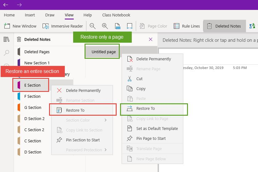 recover onenote in onedrive 1