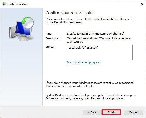 restore computer 6