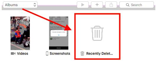 restore photos library recently deleted