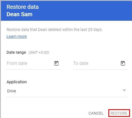 select restore tab