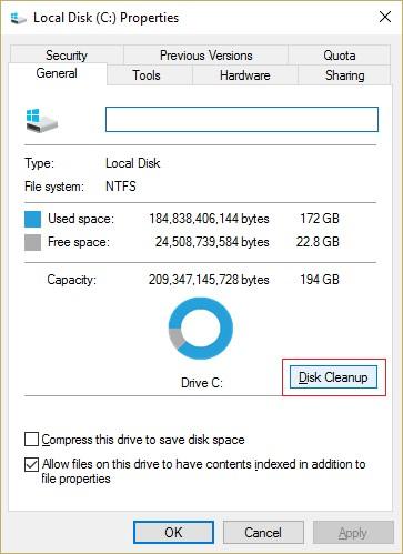run disk cleanup 2