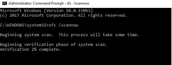 run sfc command