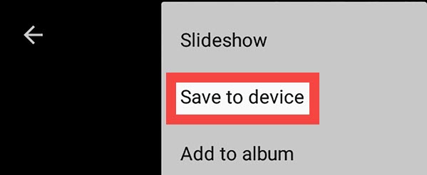 select save to device