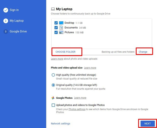 select-specific-folders
