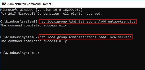 Start Local Services Command