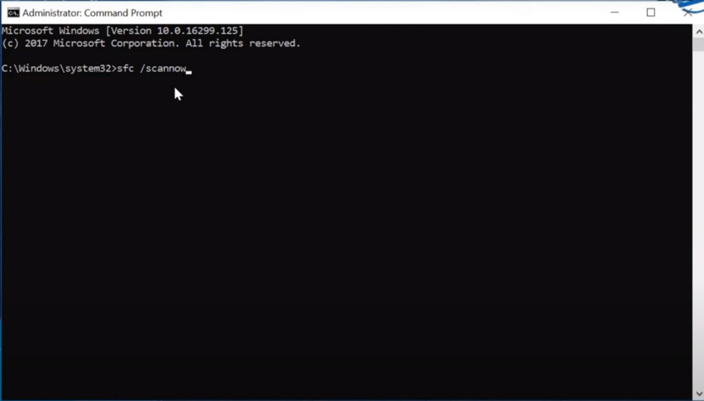 open command prompt.