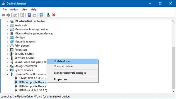 Update device drivers in Windows 10.