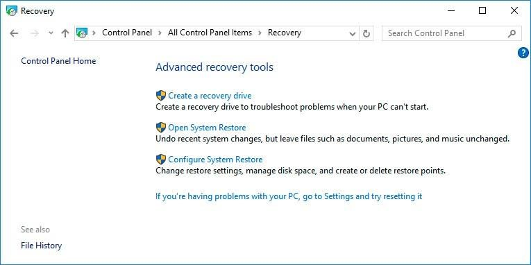 use restore point 2