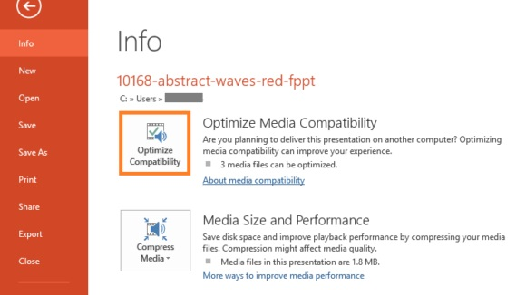 Video Optimize in PowerPoint