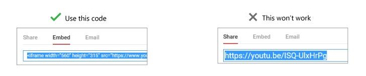 Video URL in PowerPoint
