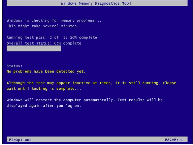 windows memory diagnostics 4