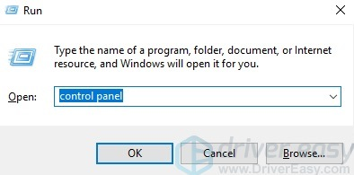 write control panel in dialogue box
