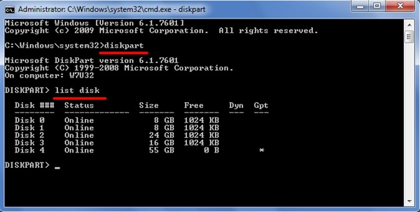 enter-list-disk-command