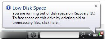 low-disk-space-error