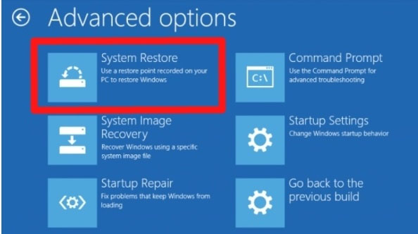 perform system restore 4