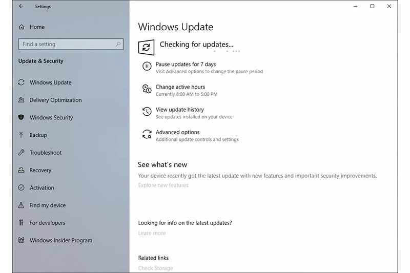 perform windows update