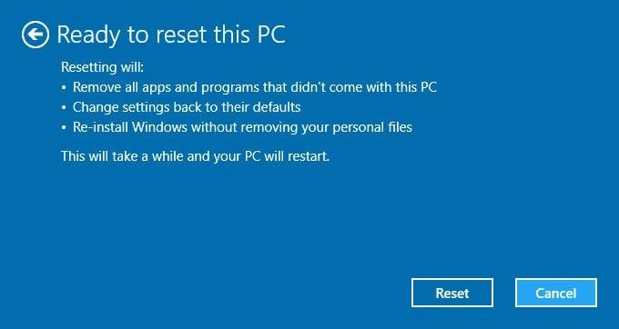 refresh windows 10 7