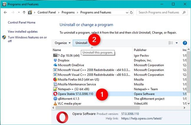 remove third party software 3