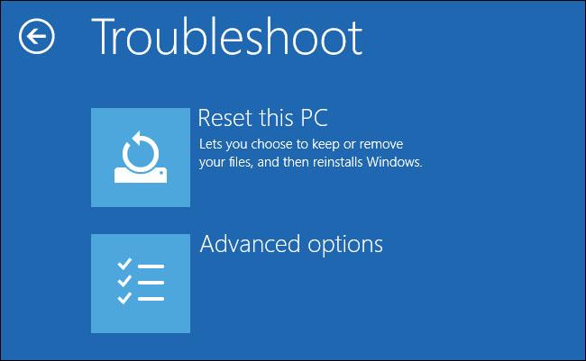 reset windows 1
