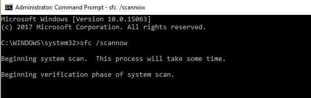 run system file checker 3