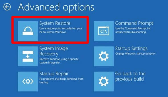 select-system-restore-option