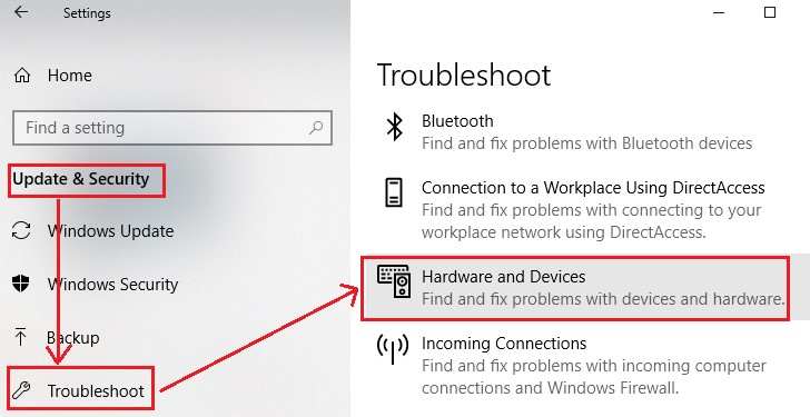 troubleshooting hardware and devices 1