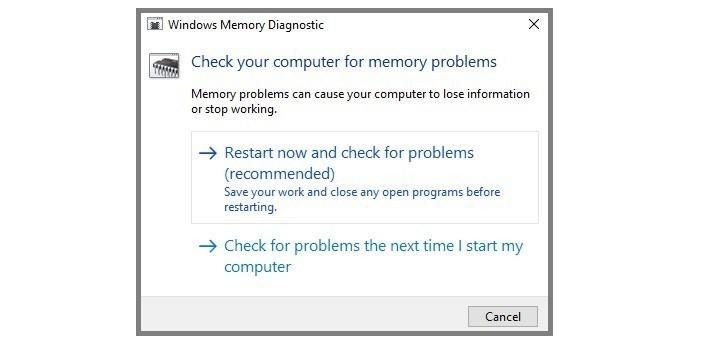 windows memory diagnostic tool 3