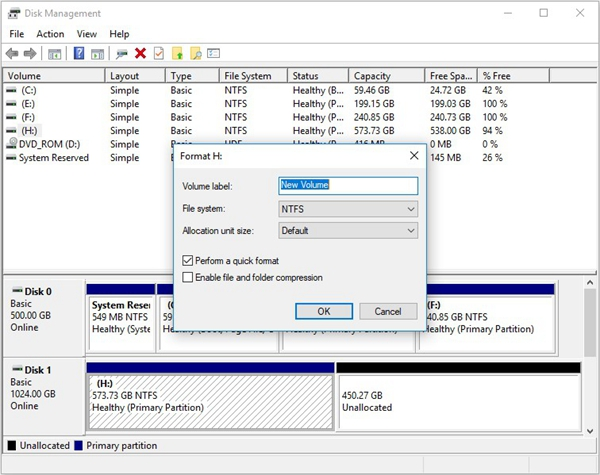 format-the volume-with-disk-management-2