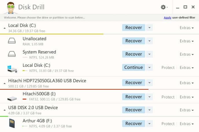DiskDrill kostenlose Software zur Wiederherstellung von SD-Karten